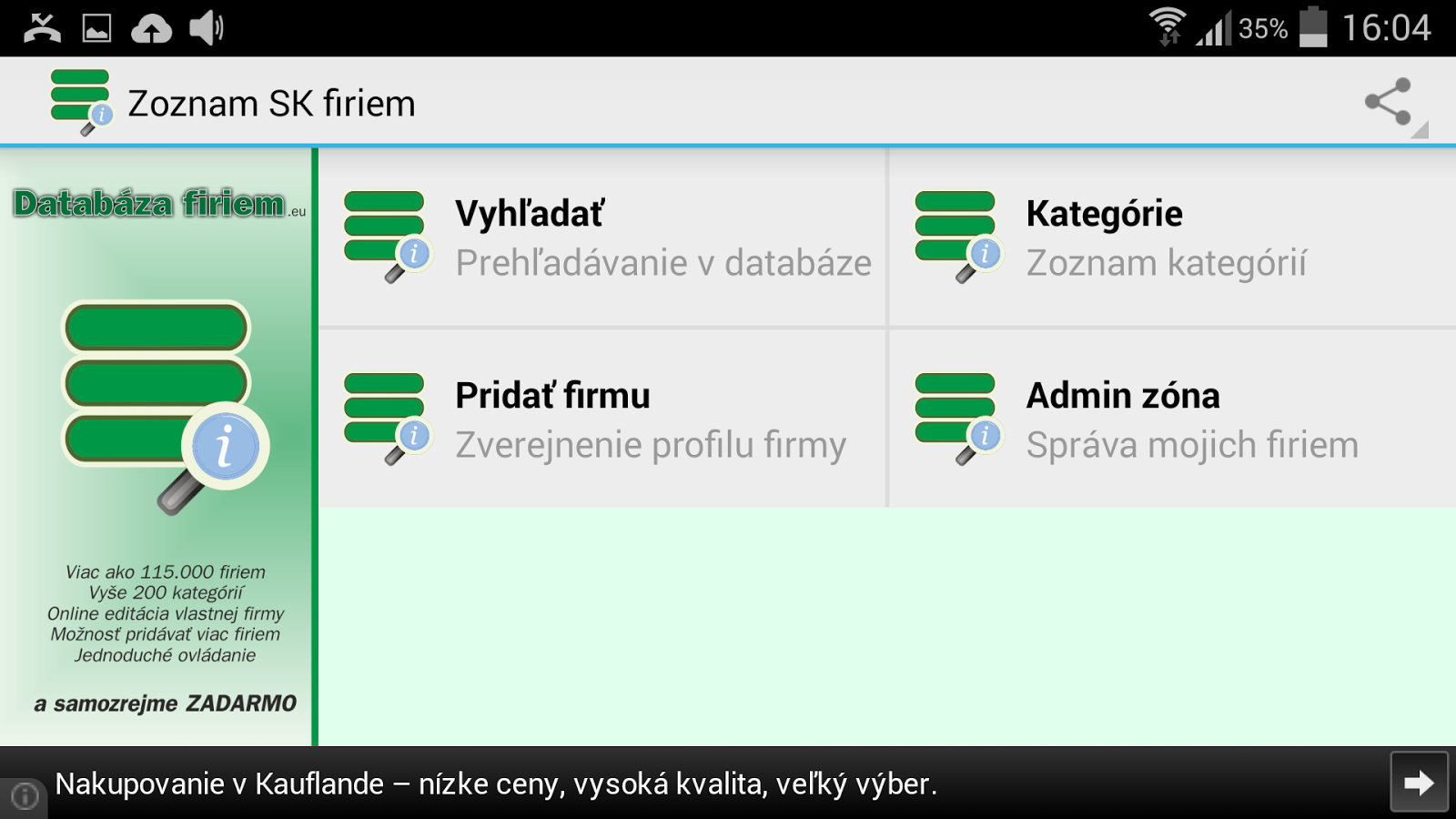 Slovak business register- screenshot