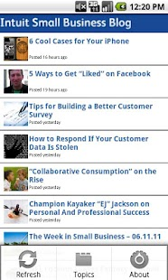 Small Business Blog - screenshot thumbnail