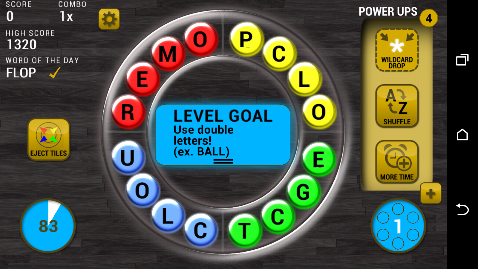 QuadWord - Word Game- screenshot
