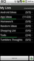 Screenshot of List Master Pro