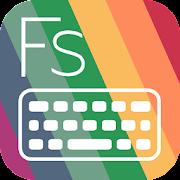 Flat Style Colored Keyboard