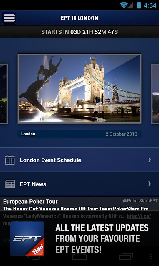European poker tournament schedule