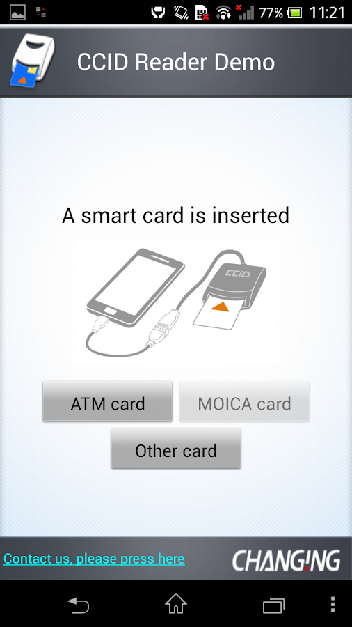 Smart card reader acr38u