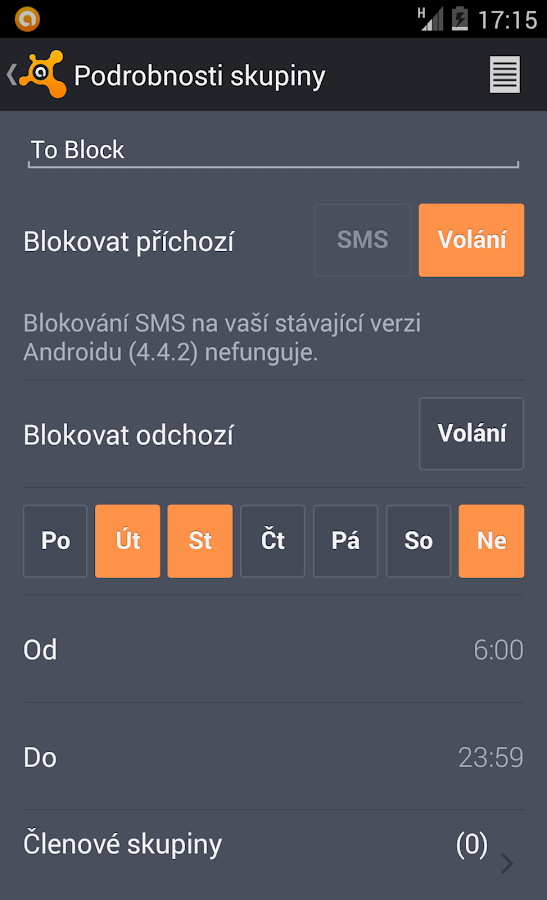 Antivir a ochrana mobilu - screenshot