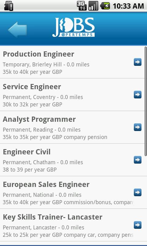 Jobs at Pertemps - screenshot