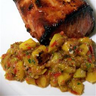 Tropical Salsa with Grilled Mango