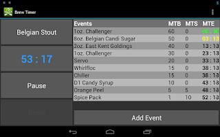 Screenshot of Brew Timer