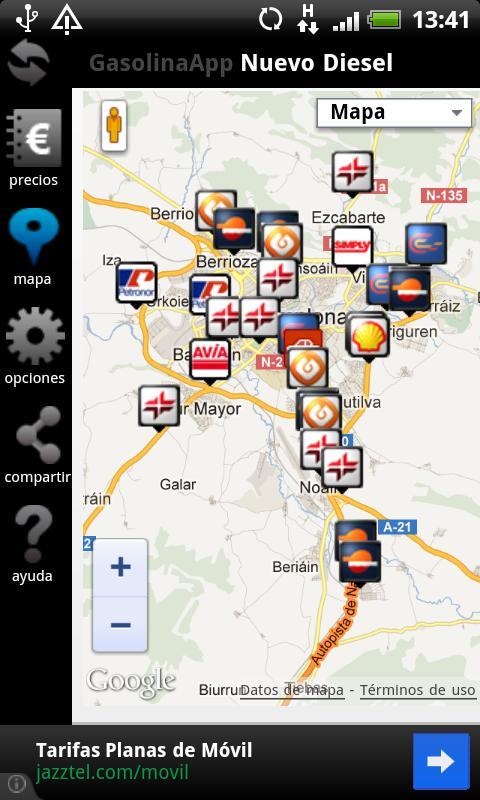 Gasolina App Precios en España- screenshot