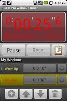Screenshot of HIIT It Pro Workout Timer