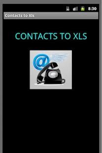 Contacts to Xls- screenshot thumbnail
