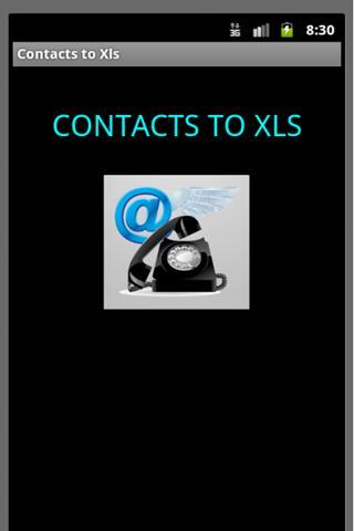 Contacts to Xls- screenshot