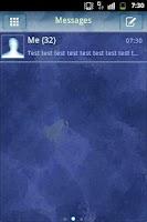 Screenshot of GO SMS Theme Neon Blue