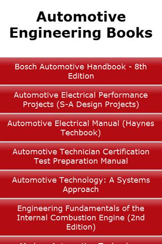Automotive Engineering Books