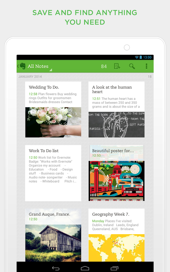 Evernote - screenshot