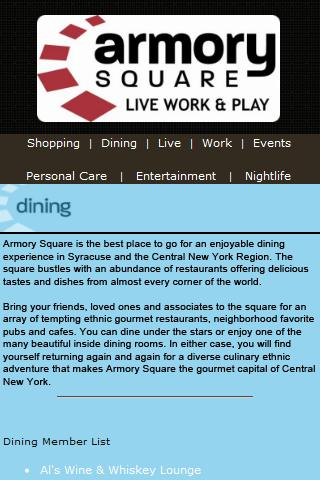 Armory Square - Syracuse, NY - screenshot