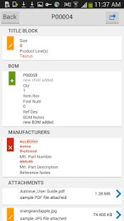 Oracle PLM Mobile - náhled