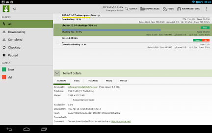tTorrent Lite - Torrent Client Screenshot 12