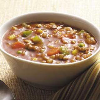 Hearty Veggie Lentil Soup.
