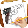 Game Learn to Draw Guns, Pistols APK for Kindle