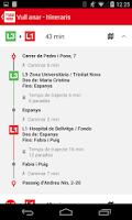 Screenshot of TMBAPP (Metro Bus Barcelona)