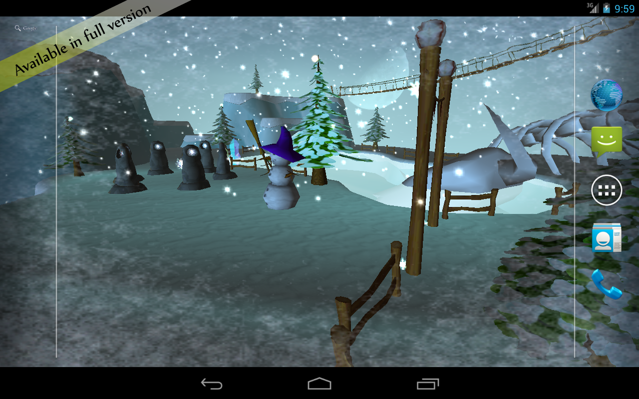 Snow Free 3D Live Wallpaper - screenshot