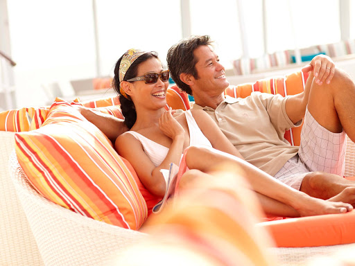 Relax in a cozy Pool Pod on Crystal Symphony.