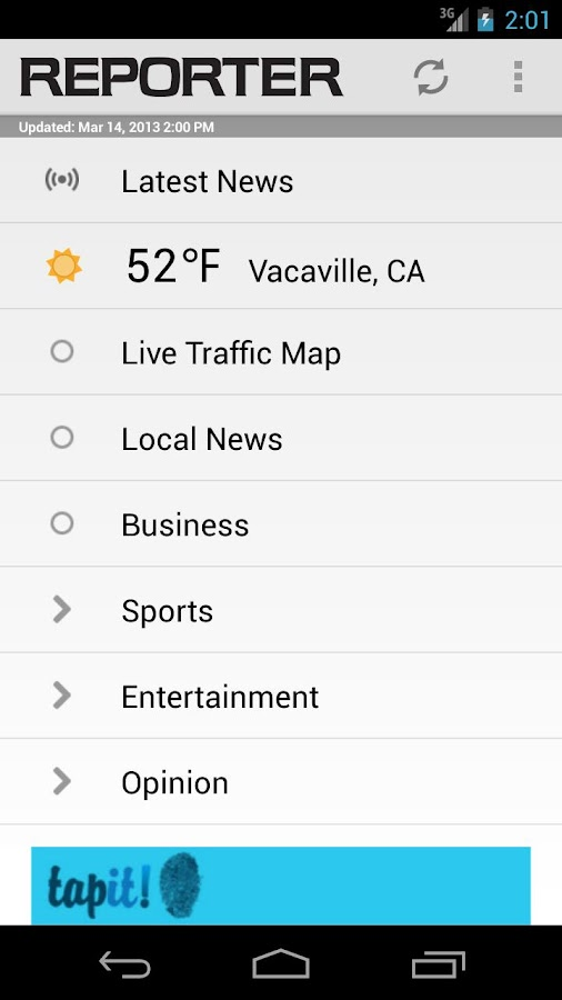 Vacaville Reporter - screenshot