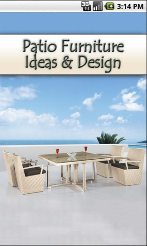 Patio Furniture Ideas & Design- screenshot