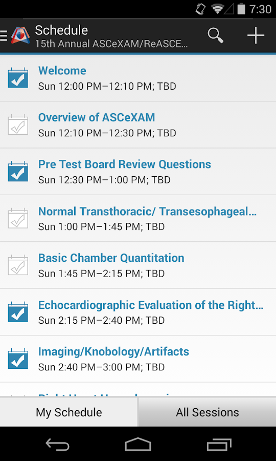 ASE Live Educational Courses- screenshot