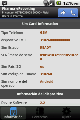 SIM Info- screenshot