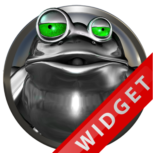 Poweramp Widget Green Frog