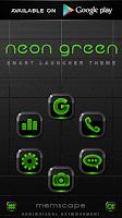 Screenshot of NEON GREEN Digi Clock Widget