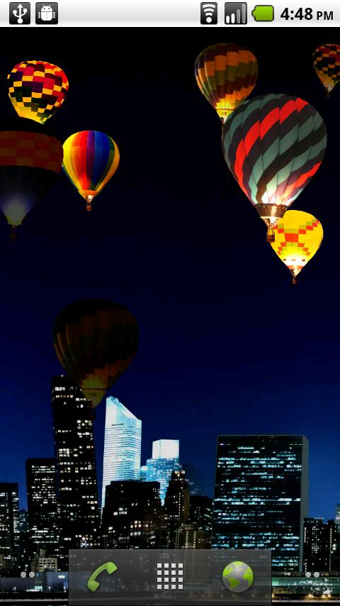 Night Glow Balloons LWP! - screenshot