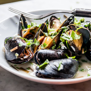 Spicy Coconut Mussels with Lemongrass.