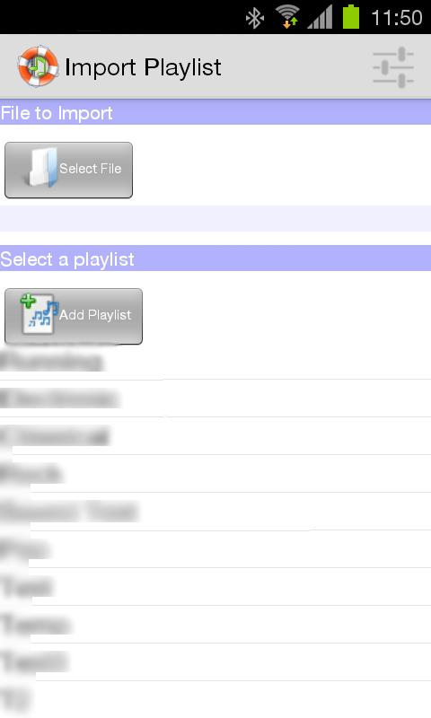 Playlist Backup- screenshot
