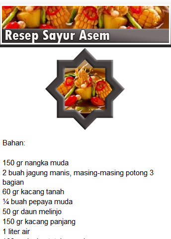 【免費書籍App】Resep Masakan Sayur-APP點子