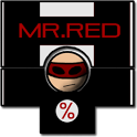 Mr. Red percentage calculator icon