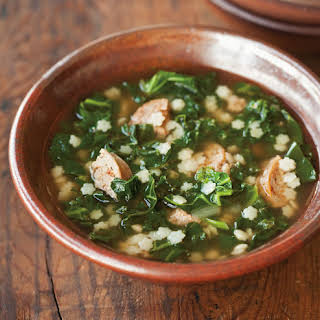 Pastina and Kale Soup with Andouille.
