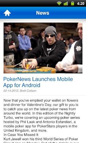 Screenshots for PokerNews