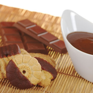 Classic Chocolate Dipped Butter Cookies