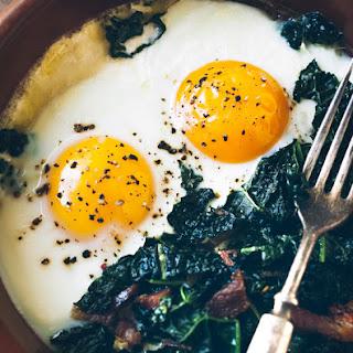 Pancetta Kale Baked Eggs