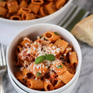 Pasta with Vodka Sauce.