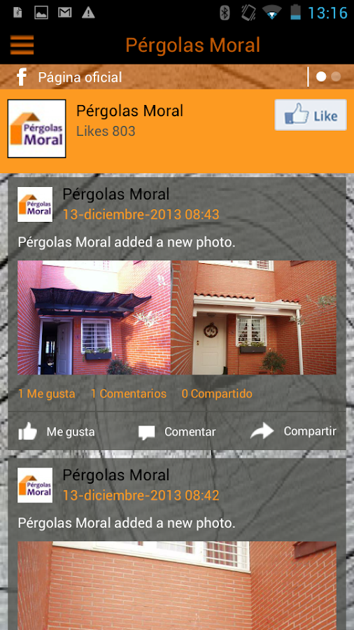 Pérgolas Moral - screenshot
