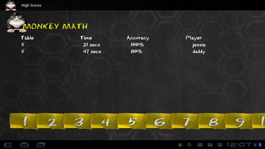 Monkey Math Tablet Edition- screenshot