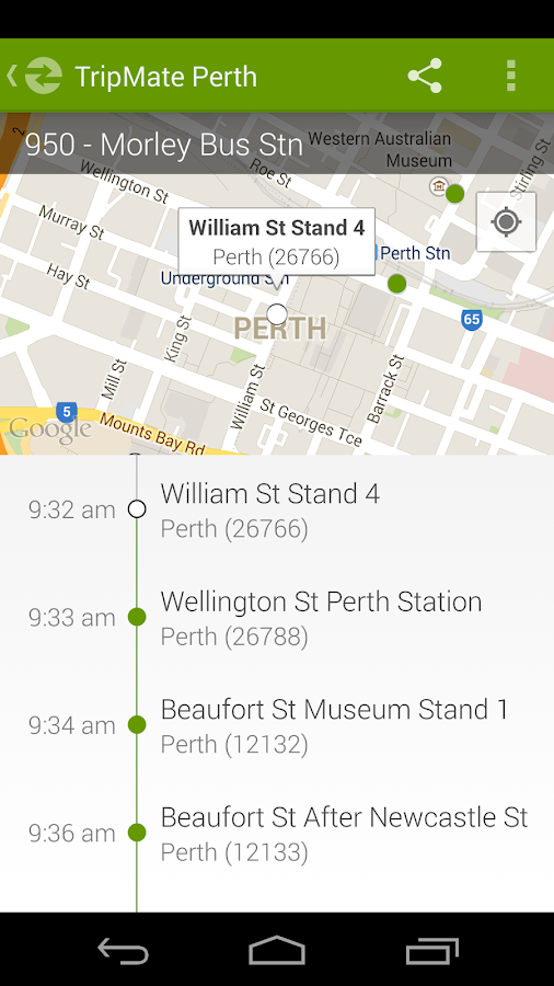 TripMate Perth Transit App - screenshot