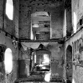 Assan's Mill by Adrian Popescu - Buildings & Architecture Decaying & Abandoned ( film, ruins, analog, abandoned, decay, black&white )
