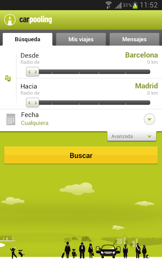 carpooling.es - screenshot