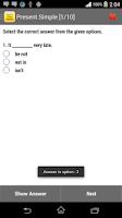Screenshot of English Tenses Practice