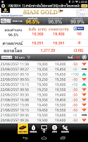 Screenshot of ราคาทอง Siam Gold
