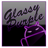 GOKeyboard Theme Glassy Purple